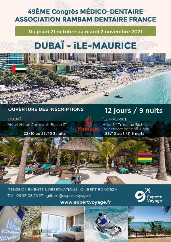 Voyage de rêve DUBAI Ile MAURICE novembre 2021